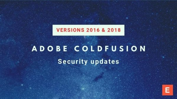 Latest ColdFusion 2018 security updates